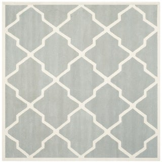Safavieh Handmade Moroccan Chatham Grey/ Ivory Wool Rug (8'9 Square)