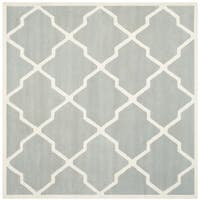 Safavieh Handmade Moroccan Chatham Grey/ Ivory Wool Rug (8'9 Square)