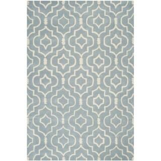 Safavieh Handmade Moroccan Chatham Blue/ Ivory Wool Rug (8' x 10')