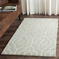 Safavieh Handmade Moroccan Chatham Canvas-backed Gray/ Ivory Wool Rug - 8' X 10'