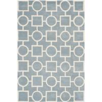 Safavieh Handmade Moroccan Chatham Blue/ Ivory Wool Rug - 6' x 9'
