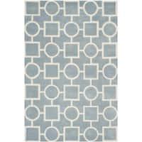 Safavieh Handmade Moroccan Chatham Blue/ Ivory Wool Rug - 8' x 10'