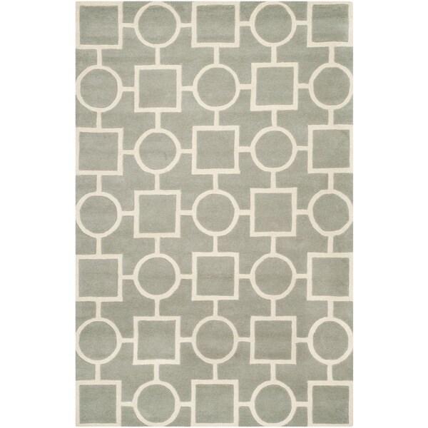 Safavieh Handmade Moroccan Chatham Gray/ Ivory Wool Area Rug - 8' x 10'
