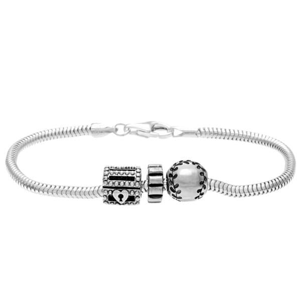 Sterling Silver Trinket Bead Charm Bracelet