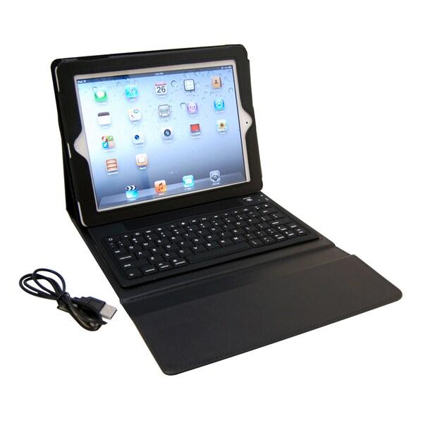 Faux Leather Bluetooth Keyboard iPad Case