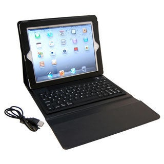 Faux Leather Bluetooth Keyboard iPad Case