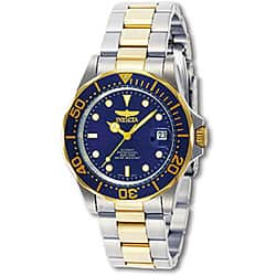 Invicta Men's 8928 'Pro Diver' Mako Automatic Gold-Tone and Silver Stainless Steel Watch