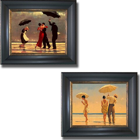 Vettriano - Beaches Framed Canvas Art Collection