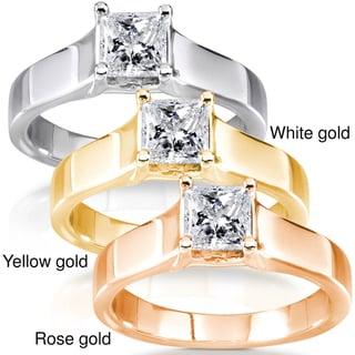 Annello by Kobelli 14k Gold 1/2ct TDW Diamond Solitaire Ring (G-H, I1-I2)