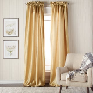 Heritage Landing 84-inch Faux Silk Lined Curtain Pair (5 options available)