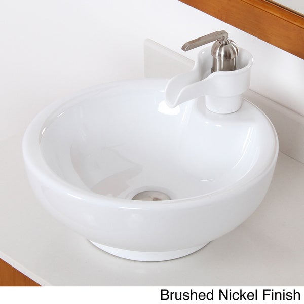 Elite High Temperature Grade A Ceramic Bathroom Sink/ Faucet