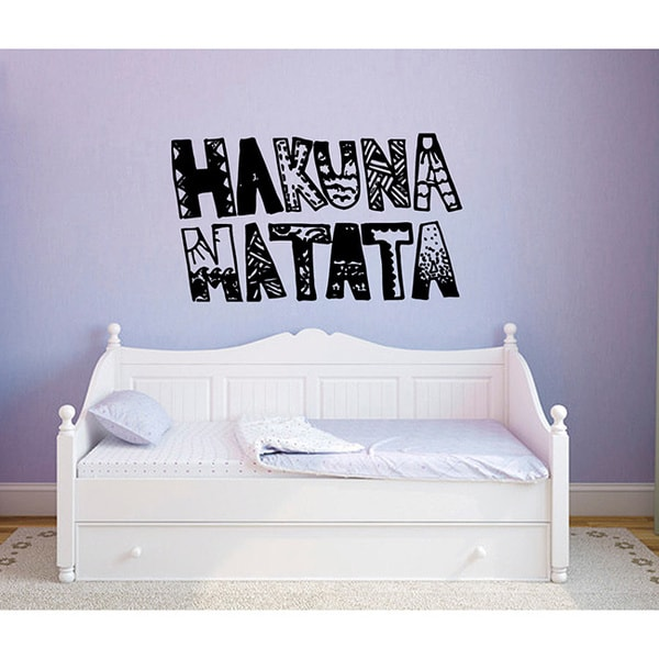 Shop 'Hakuna Matata' Vinyl Wall Art - Free Shipping On ...