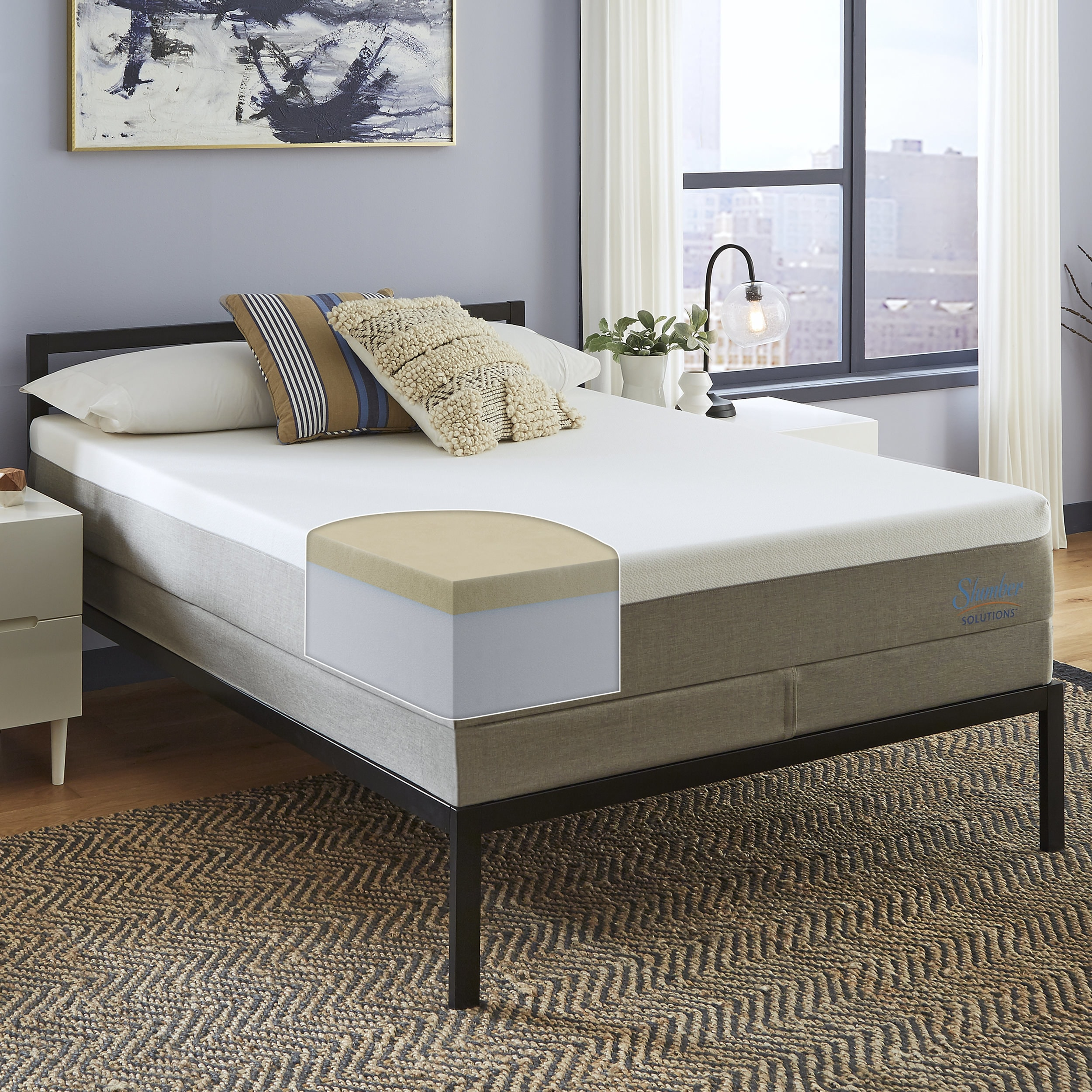 Shop Slumber Solutions Essentials 12 Inch Memory Foam Mattress On