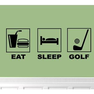 'Eat. Sleep. Golf.' Vinyl Wall Art