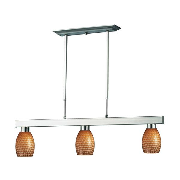 Players Caramel Glass 3-Light Fixture