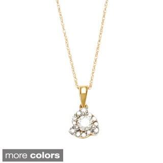 14k Gold 1/4ct TDW Certified Diamond Necklace (H-I, I2-I3)