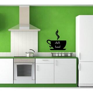 'Chalkboard Coffee Cup' Vinyl Wall Art