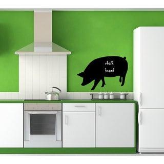 'Pig Chalkboard' Vinyl Wall Art