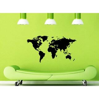 'World Map' Vinyl Wall Art