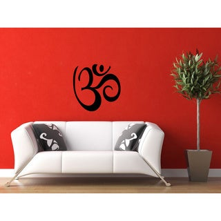'Yoga Om Sign' Vinyl Wall Art
