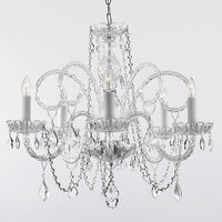 Empress crystal chandelier lighting h25 x w24 free shipping today gallery venetian style all crystal 5 light chandelier aloadofball Image collections