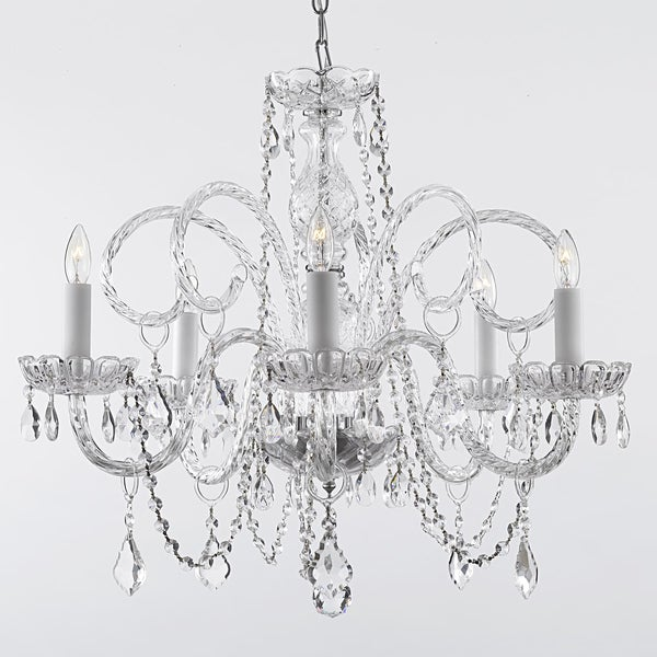 Gallery Venetian Style All Crystal 5-light Chandelier