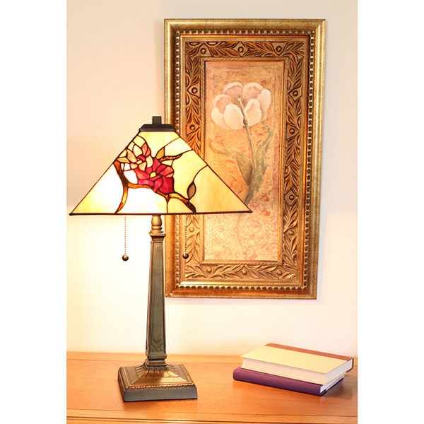 Tiffany Style Floral Mission Table Lamp   Free Shipping Today    Overstock.com   15661495