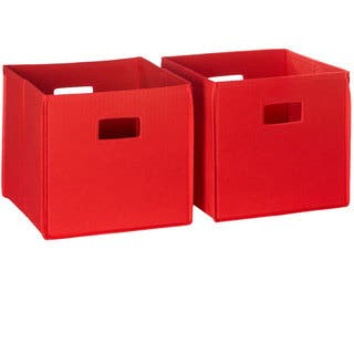 RiverRidge Kids Folding Storage Bins with Handles (Set of 2)|https://ak1.ostkcdn.com/images/products/8352538/P15661547.jpg?impolicy=medium