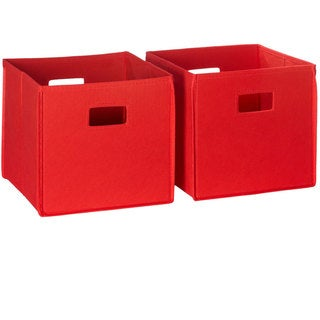 RiverRidge Kids Folding Storage Bins with Handles (Set of 2)