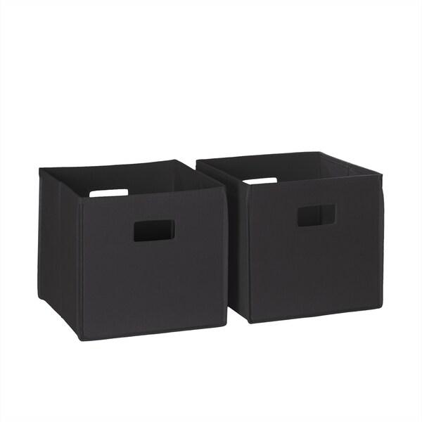 Riverridge Kids Folding Storage Bins With Handles Set Of 2