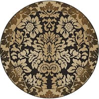 Admire Home Living Amalfi Paradise Chocolate Brown Area Rug - 5'3 x 5'3