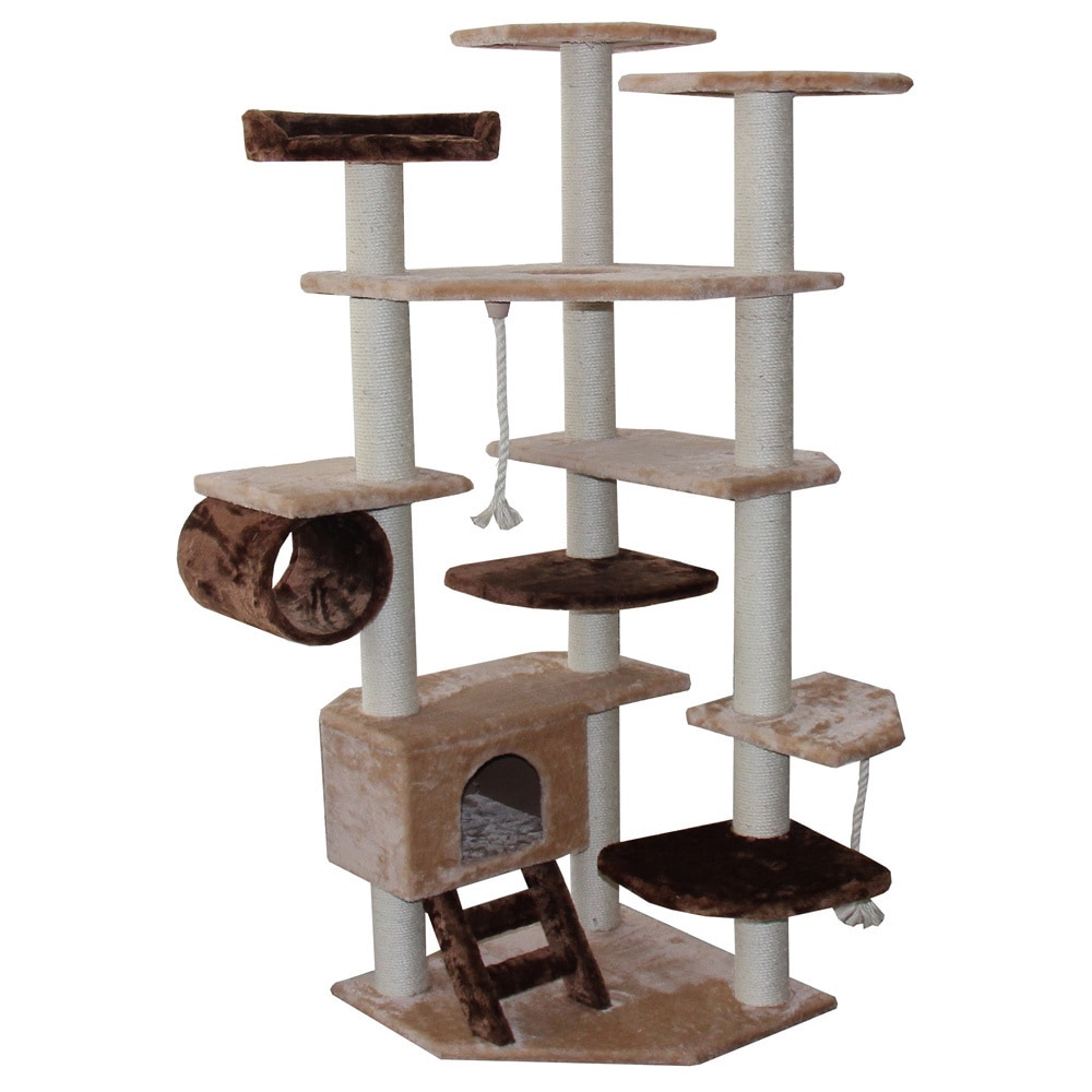 Kitty Mansions Troy' Cat Tree Furniture (Beige/Brown)