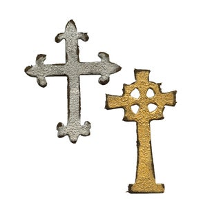 Sizzix Movers & Shapers Magnetic Mini Ornate Cross Die Set (2 Pack)