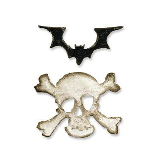 Sizzix Movers & Shaper Magnetic Mini Bat/ Skull Die Set (2 Pack)