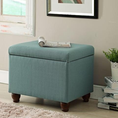 HomePop Aqua Textured Medium Storage Bench