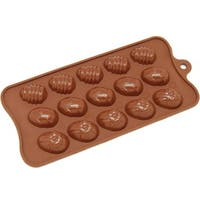 Freshware 15-cavity Easter Egg Chocolate/ Candy/ Clay Silicone Mold