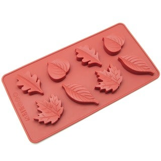 Freshware 8-Cavity Maple Leaves Red Silicone Candy Mold