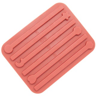 Freshware Red 6-Cavity Stick Chocolate and Candy Silicone Mold