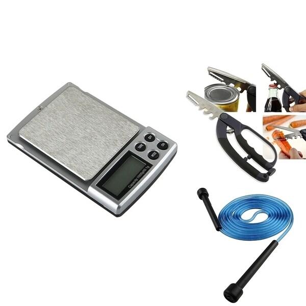 BasAcc Digital Pocket Scale Set/ 5-in-1 Scissors/ Jump Rope