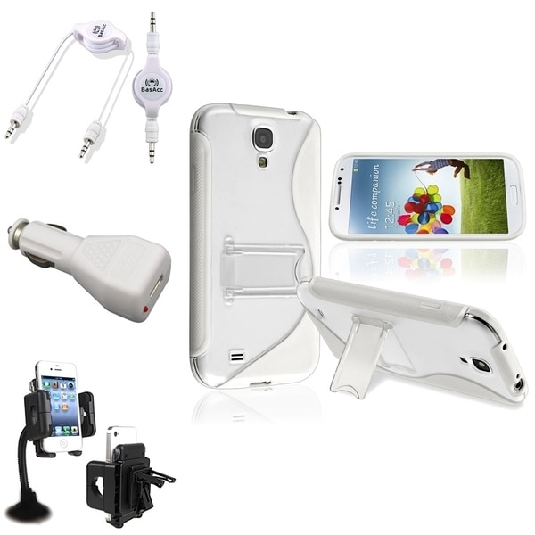 BasAcc Case/ Windshield Mount/ Audio Cable for Samsung Galaxy S4
