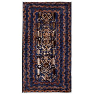 Herat Oriental Afghan Hand-knotted Tribal Balouchi Wool Area Rug (3'3 x 6'4)