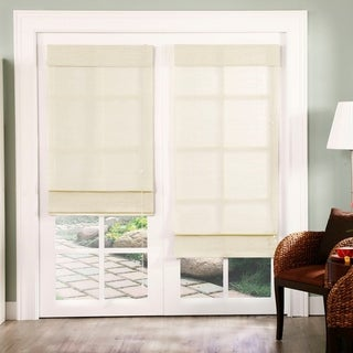 overstock roman shades chicology chicology standard cord lift roman shade nevada natural woven privacy vanilla fabric shades for less overstockcom