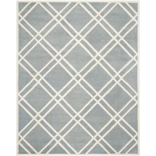 Safavieh Handmade Moroccan Chatham Blue/ Ivory Wool Area Rug (8'9 x 12')