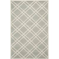 Safavieh Handmade Hand-tufted Moroccan Chatham Gray/ Ivory Wool Rug - 6' x 9'