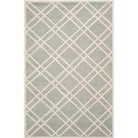 Safavieh Handmade Moroccan Chatham Gray/ Ivory Geometric Wool Rug - 8' x 10'