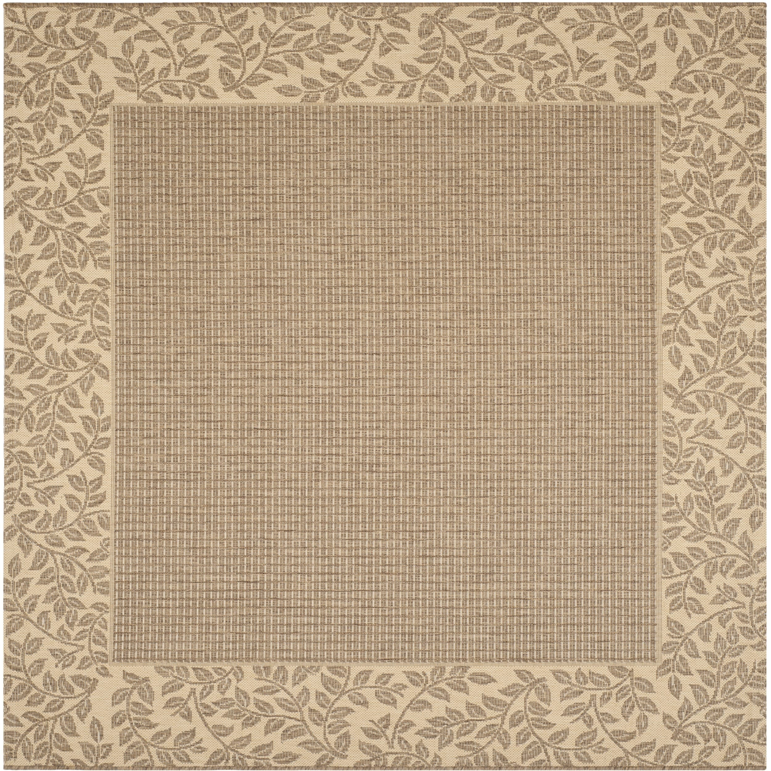 Safavieh Indoor/ Outdoor Courtyard Brown/ Natural Rug (67 Square)
