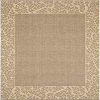 Safavieh Courtyard Brown/ Natural Indoor/ Outdoor Rug - 6'7 Square