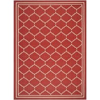 Safavieh Courtyard Transitional Red/ Beige Indoor/ Outdoor Rug - 8' x 11'