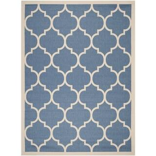 Safavieh Courtyard Moroccan Pattern Blue/ Beige Indoor/ Outdoor Rug (9' x 12')|https://ak1.ostkcdn.com/images/products/8352993/Safavieh-Indoor-Outdoor-Courtyard-Blue-Beige-Geometric-Rug-9-x-12-P15661892.jpg?impolicy=medium