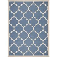 Safavieh Courtyard Moroccan Pattern Blue/ Beige Indoor/ Outdoor Rug - 9' x 12'